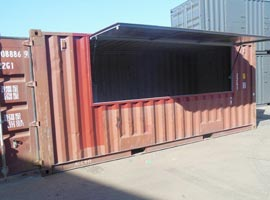 Container with hatch