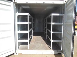 Container with Shelves